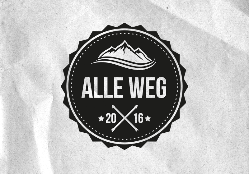 Alle Weg Logo Design 883568 Black And White