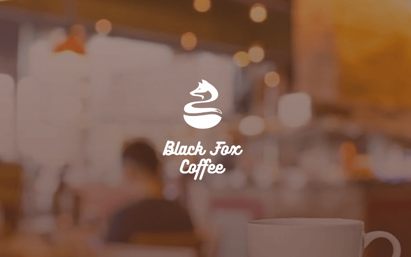 Black And White Logo Black Fox Coffee 494221