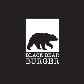 Black Bear Burger Flat Design Schwarz Weiß Logo 138695Black Bear Burger Flat Design Schwarz Weiß Logo 138695
