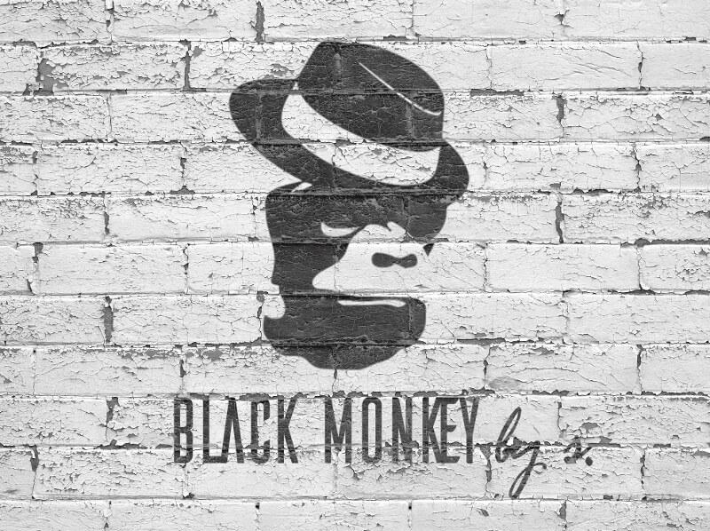 Black Monkey Schwarz Und Weiß Logo Design 136865