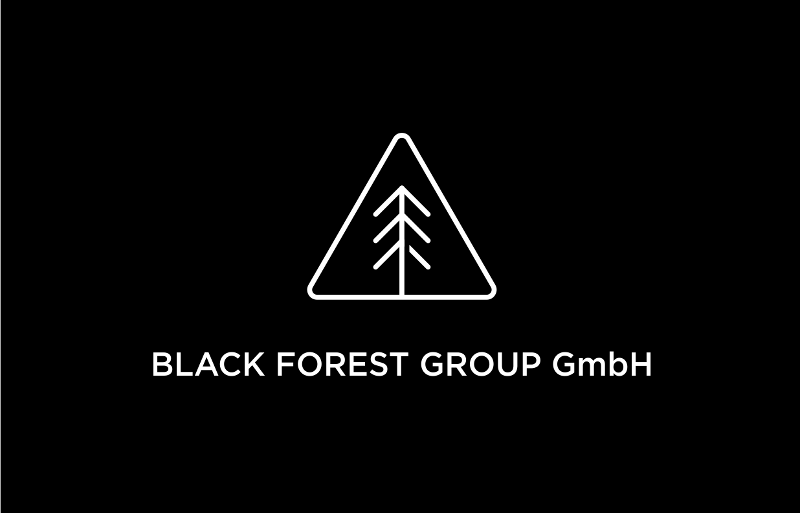 Flat Logo Black And White 796574 Black Forest Gruop