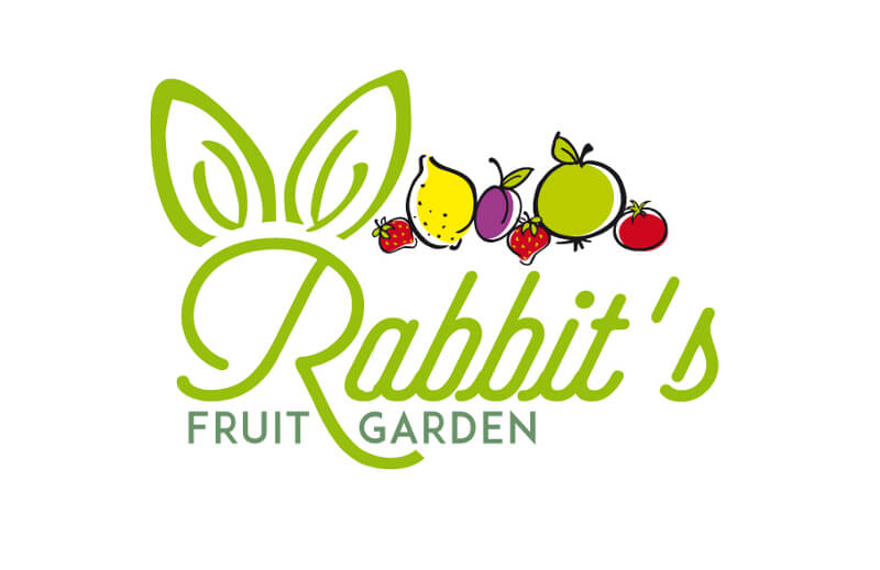 Früchte Logo Bio Natur Rabbits Fruit Garden