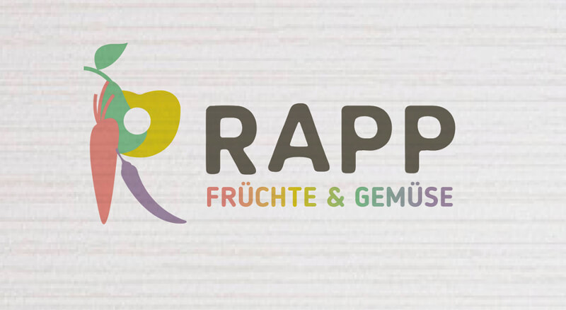 Gemüse Logo Früchte Logo RAPP illustriert