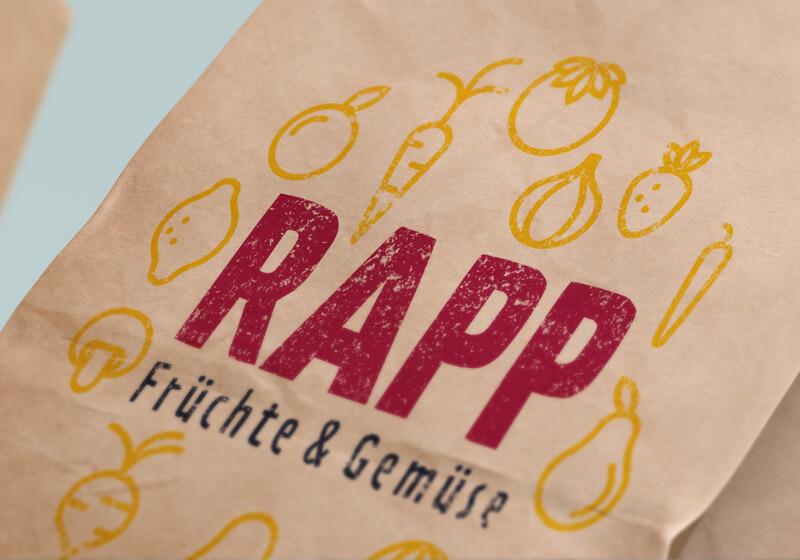 Illustriertes Natur Logo RAPP Frucht und Gemüse