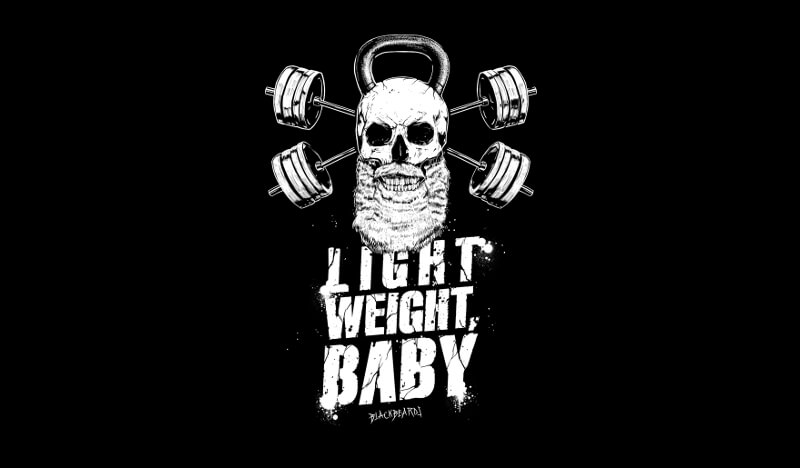 Light Weight Baby Black Beards 848854 Black And White Logo