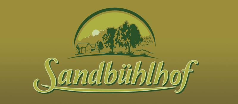 Logo Sandbühlhof mit Hintergrund