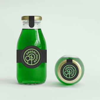 Natürliches Logo Green Liquour