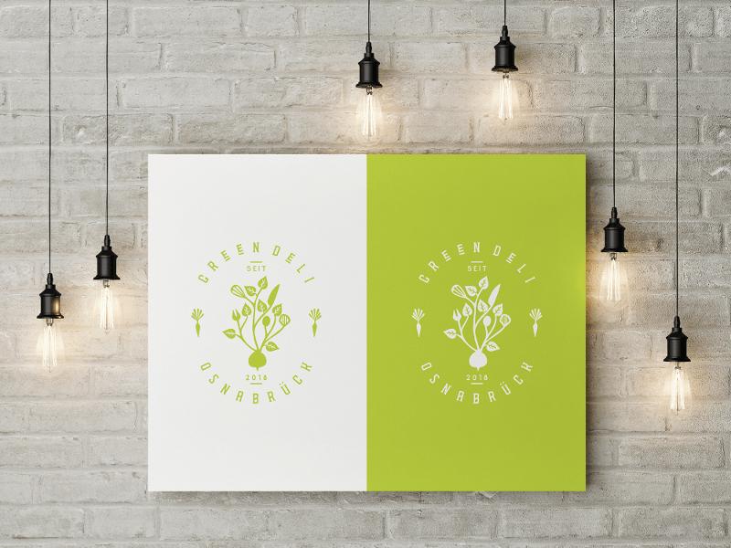 Natürliches Restaurant Logo Design Green Deli Osnabrück