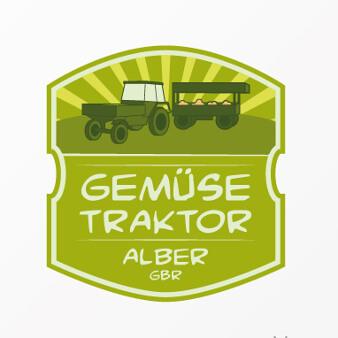Natur Logo Bio Gemüse Traktor Alber