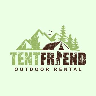 Natur Logo Illustration Natur Tent Friend