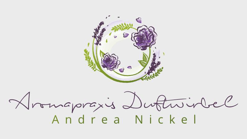 Pflanzen Logo Blumen Aromapraxis Duftwirbel