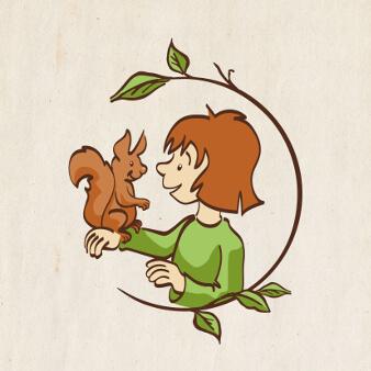 Pflanzen Logo Natur Bio Öko Wald