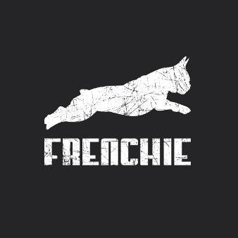 Schwarz Weiß Design Logo Frenchie 339927