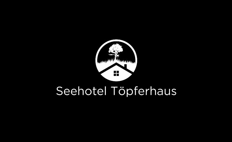 Schwarz Weiß Logo Seehotel Töpferhaus 542289