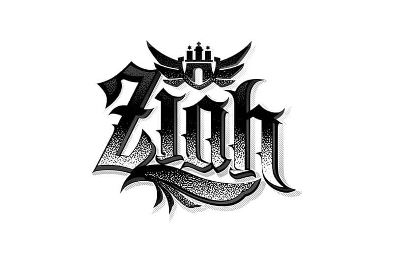 Schwarz Weiß Logo Ziah 841895