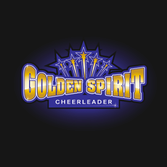 Sportverein Logo Golden Spirit Cheerleader 843749