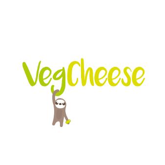 Vegan Logo Käse Illustriert Faultier Natur