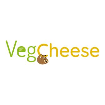 Veganes Logo Design veganer Käse VegCheese