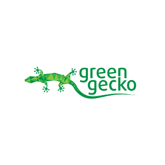 green gecko umweltfreundliches logo