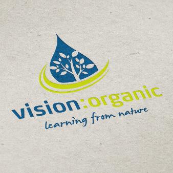 vision organic nachhaltiges logo design öko