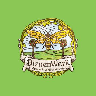 Bienenwerk grünes Logo Illustration