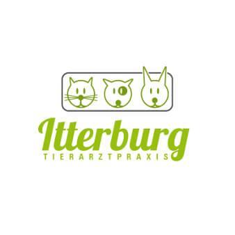 Logo grün minimalistisch Tierarztpraxis Itterburg