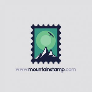 berg logo design mountain stamp