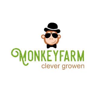 grünes Logo Design Monkeyfarm