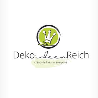 grünes logo design blatt deko ideen reich