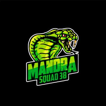grünes logo illustration maskottchen mandra squad