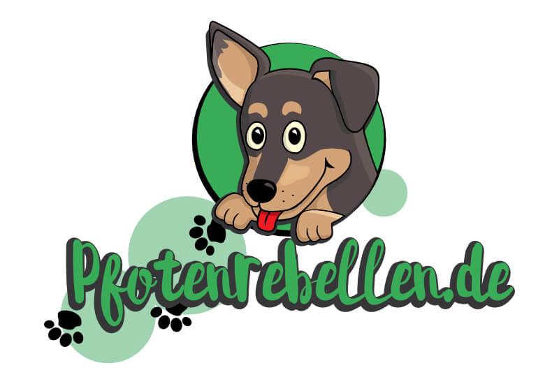 grünes logo maskottchen illustration figur pfotenrebellen