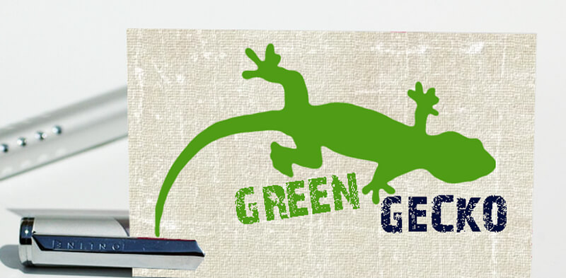 green gecko grünes logo design