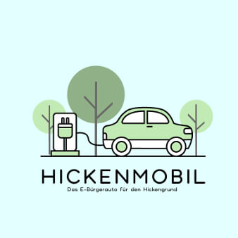 hickenmobil logo grün minimalistisch