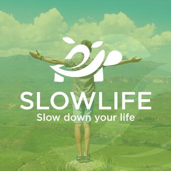 slowlife grünes logo blätter schildkröte