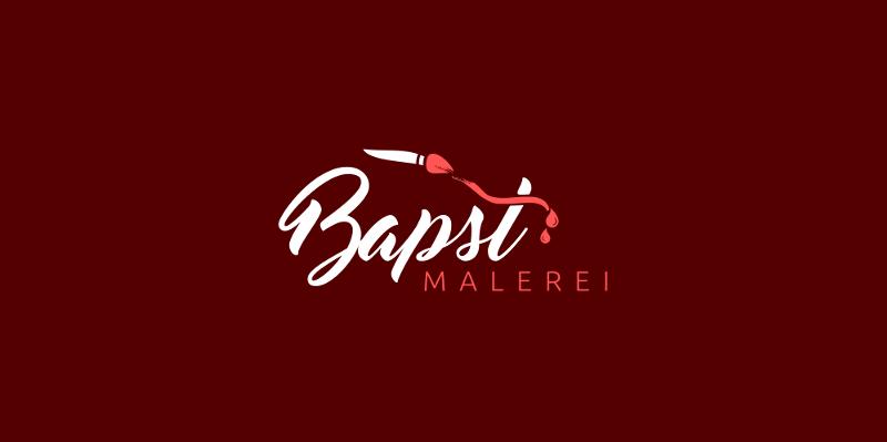 731424 Bapst Malerei 3 Logo Design Schrift
