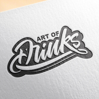 916999 Art of Drinks Typografie Logo