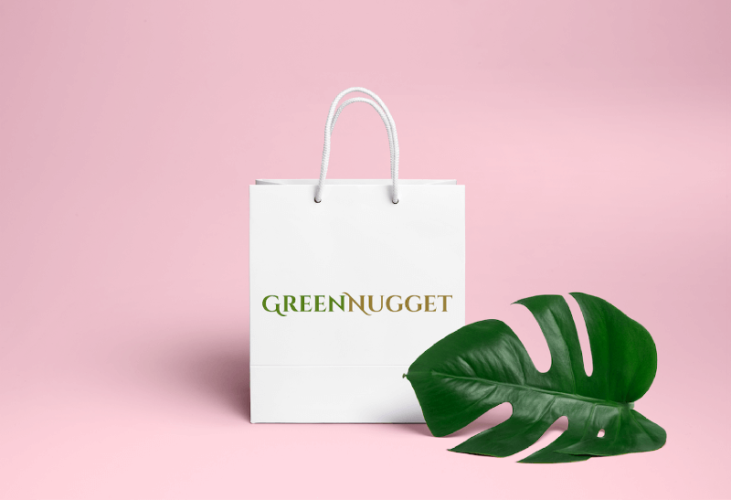 992638 Green Nugget 2 Logo Typo