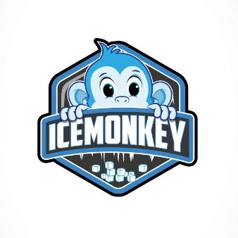 Banner Logo Ice Monkey Emblem