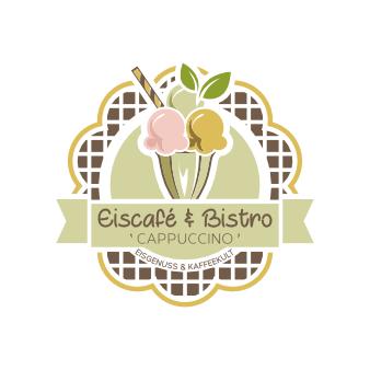 Buntes Emblem Logo Eiscafé & Bistro Cappuccino