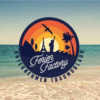 Buntes Emblem Logo Ferien Factory