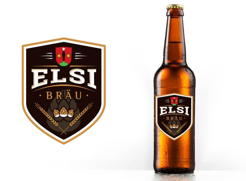 ELSI BRÄU Emblem Logo