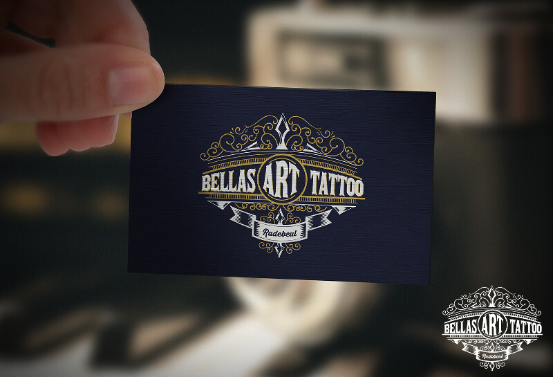 Emblem Logo Bellas Art Tattoo