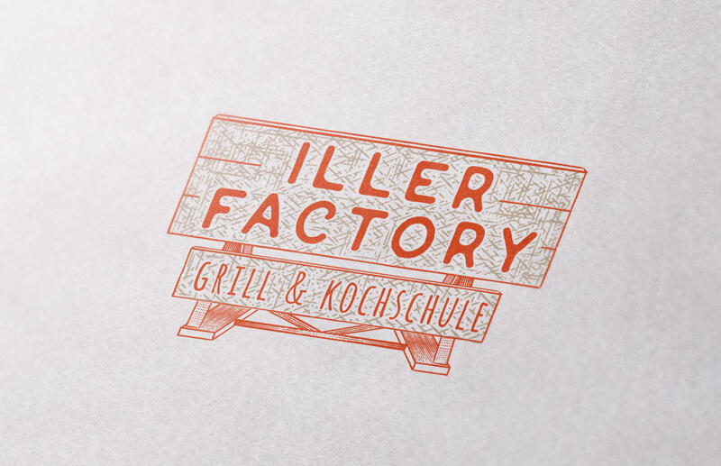 Emblem Logo Iller Factory Grill Kochschule
