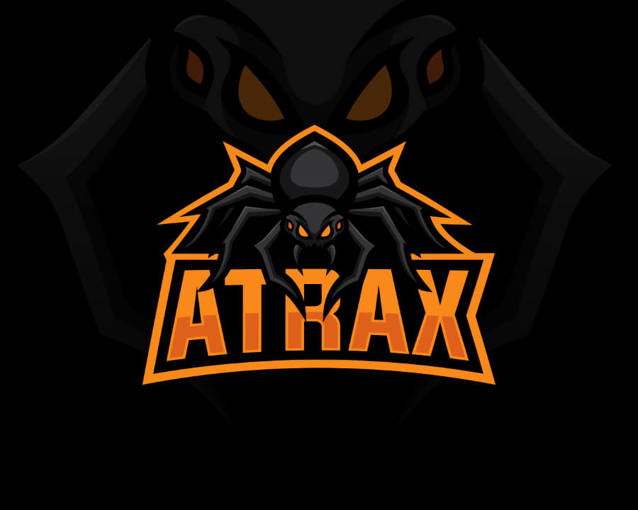 Emblem Logo Illustration Twitch ATRAX Youtuber