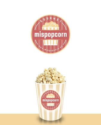 Emblem Logo MISPOPCORN Design