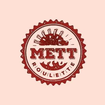 Emblem Mett Roulette Logo Design