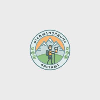 Emblem rund Logo Bierwanderung