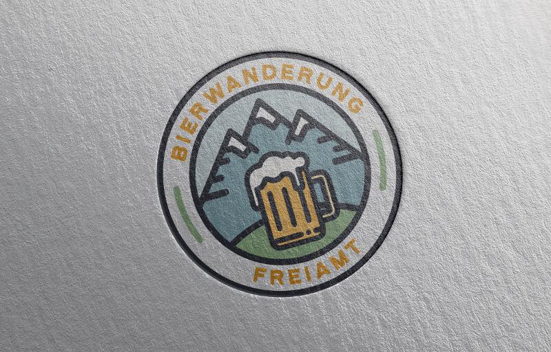 Rundes Emblem Bierwanderung
