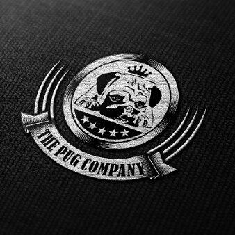 The Pug Company Emblem Logo Design