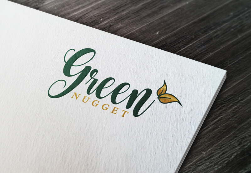 Typografie Logo 992638 Green Nugget 5